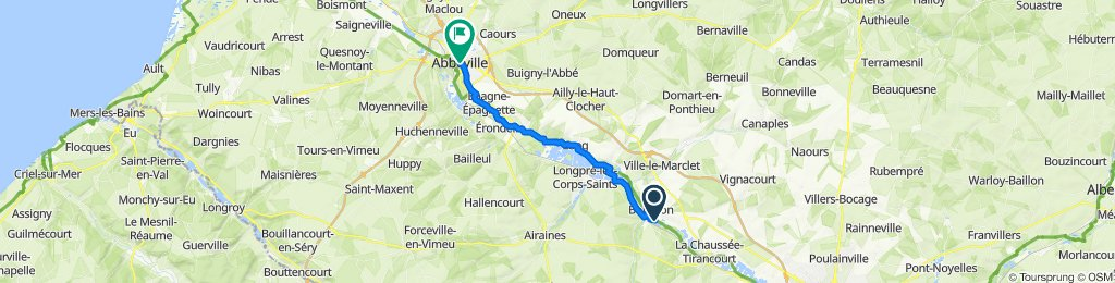 Itinéraire vers 7bis Rue du Maréchal Foch, Abbeville