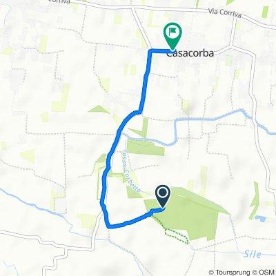 Giro a velocità lenta in Casacorba