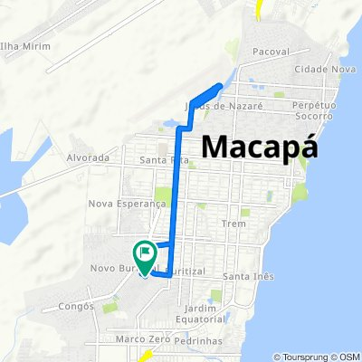 Relaxed route in Macapá