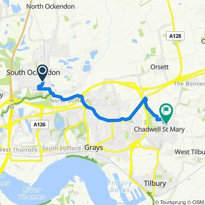 333 Broxburn Drive, South Ockendon to 1–6 Delargy Close, Grays