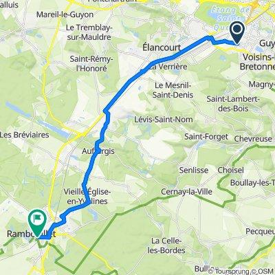 Itinéraire à partir de Route de Trappes, Montigny-le-Bretonneux