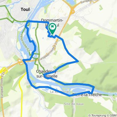 De 68 Rue Gambetta, Dommartin-lès-Toul à 7 Allée Saint-Vincent, Dommartin-lès-Toul