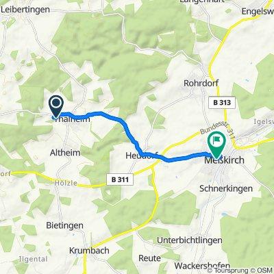 Leitachhang 24, Leibertingen nach Kolpingstraße 9, Meßkirch