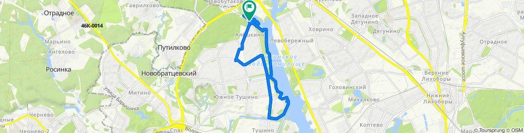 От улица Свободы, 70, Москва до улица Свободы, 70, Москва