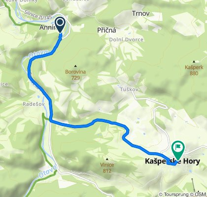 Moderate route in Kašperské Hory