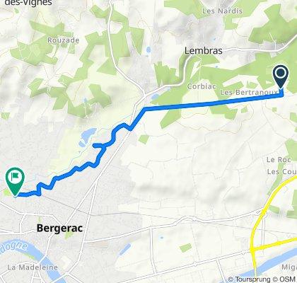 Chemin de Grand Jean 12, Creysse to Rue Blaise Pascal 39, Bergerac