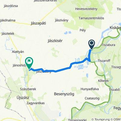 Relaxed route in Jászalsószentgyörgy