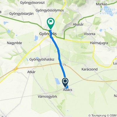 Ady Endre utca 15, Adács to Dobó István utca 12, Gyöngyös