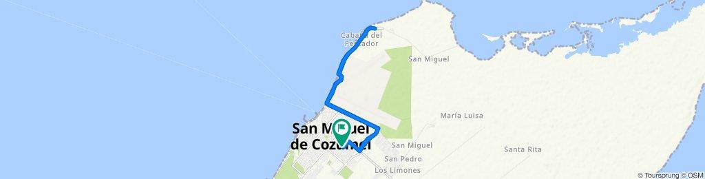 Restful route in Cozumel