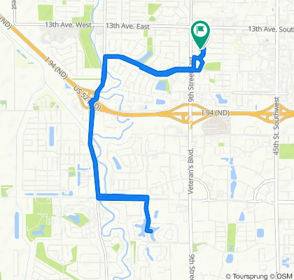 1469 12th Street Ct, West Fargo to 1462 12th Street Ct, West Fargo