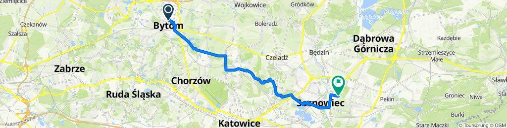 Trasa z Stefana Żeromskiego 20, Bytom