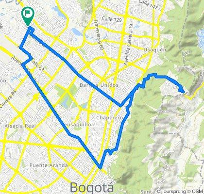 De Carrera 108 75-22, Bogotá a Carrera 108 75-22, Bogotá