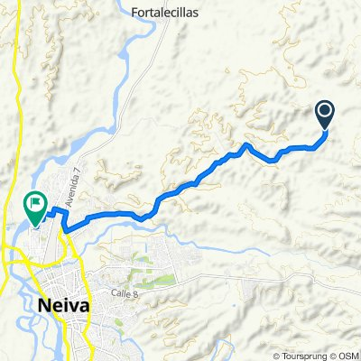 Relaxed route in Neiva
