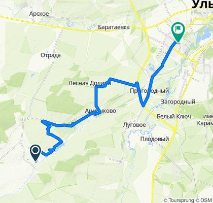 Маршрут в Кузоватовская улица, 15, Ульяновск