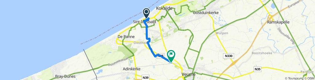 Restful route in Furnes