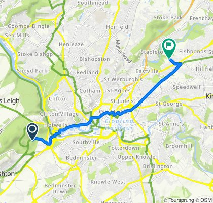 Mansion, Ashton Road, Bristol to The Grove Bungalow, Elmgrove Road, Bristol