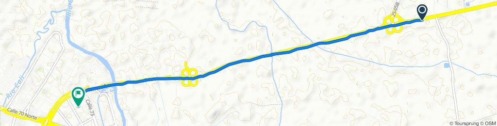 De Cali - Palmira a Carrera 1a 3 72-42, Cali