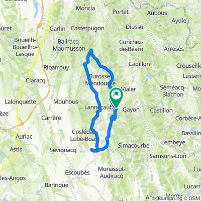 De 32 Route de Burosse, Lalongue à 6 Route de Gayon, Lalongue