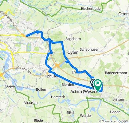 Rehland 1–13, Achim nach Danziger Straße 8, Achim