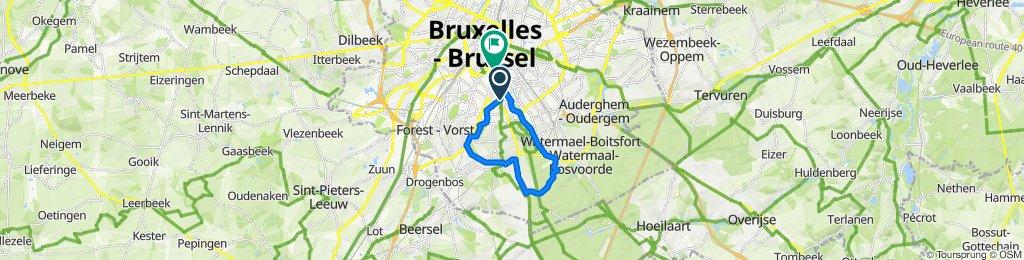 Place Albert Leemans 20–22, Ixelles to Rue de Stassart 115, Ixelles