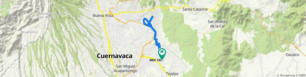 De Izcóatl 30, Jiutepec a Melchor Ocampo 19, Jiutepec