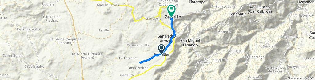 De 20 de Noviembre, Tomatlán a Agustín Balderas 7A, Zacatlán