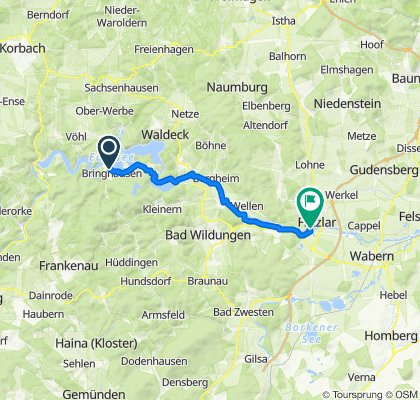 Bringhausen - Fritzlar - Bringhausen