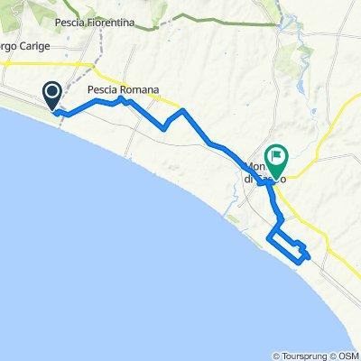 Da Via Litoranea 3, Capalbio a Via Regisvilla 8, Montalto di Castro