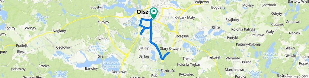 Relaxed route in Olsztyn