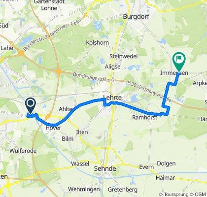 Moderate route in Lehrte