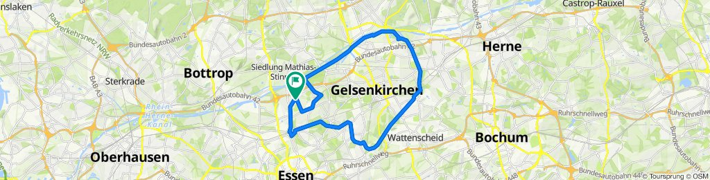 Karlstraße 126, Essen nach Basunestraße 13, Essen