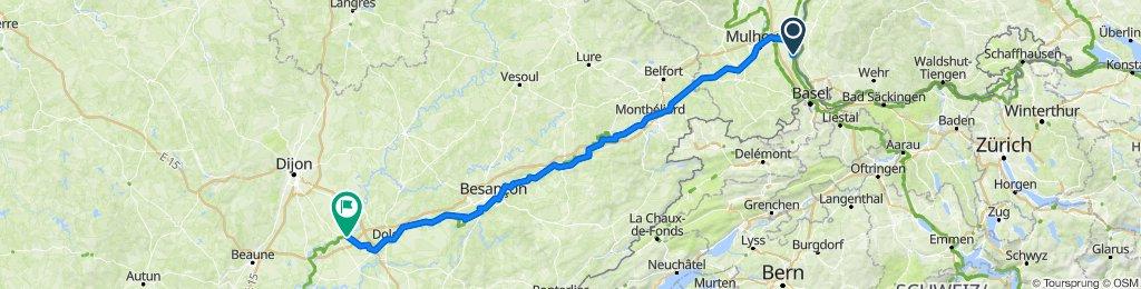 Rue Principale 22, Niffer nach Impasse du Presbytère 2, Saint-Symphorien-sur-Saône