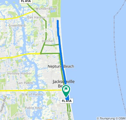 Moderate route in Jacksonville Beach
