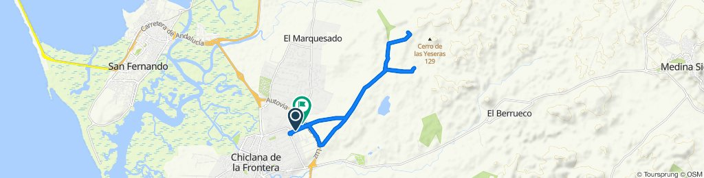 De Camino de la Cañada de los Llanos, 56, Chiclana de la Frontera a Camino de la Cañada de los Llanos, 43, Chiclana de la Frontera