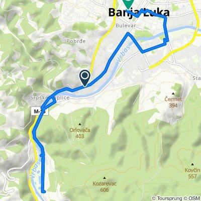 Restful route in Banja Luka