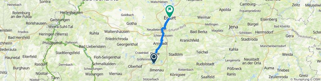 Pinienweg 3, Martinroda nach Fischmarkt 1, Erfurt