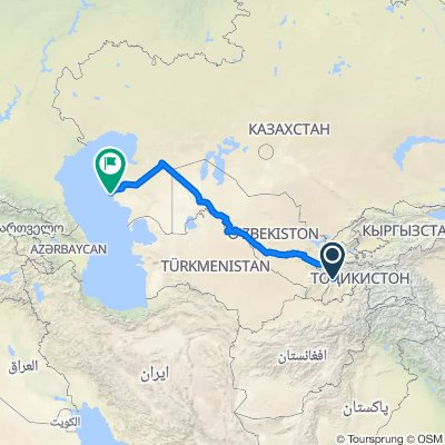 Dushanbe to Caspian Sea