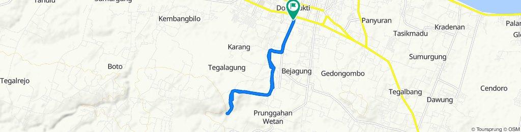 Sidorejo, Kecamatan Tuban to Gang Mekar 27, Kecamatan Tuban