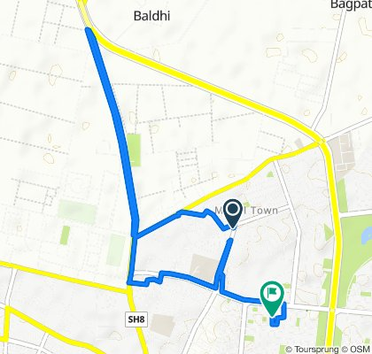 Route from 714L, Maharishi Kashyap Marg, Karnal