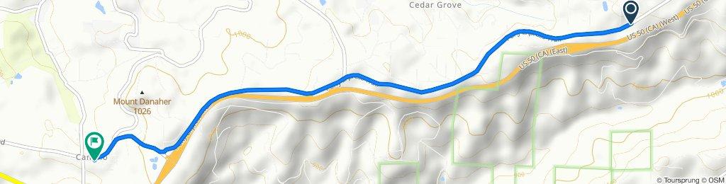 5649 Pony Express Trail, Pollock Pines to 4110 Carson Rd, Camino