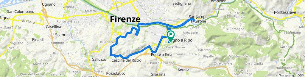 Da Via Enrico De Nicola 20, Bagno a Ripoli a Via Enrico De Nicola 11/H, Bagno a Ripoli