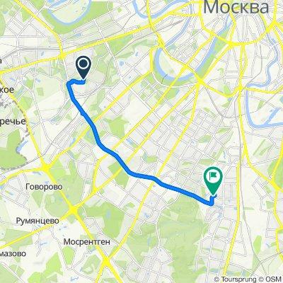 От Нежинская улица, 6, Москва до Азовская улица, 24к3, Москва