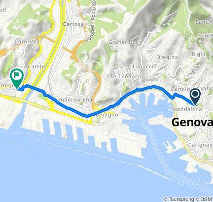 Da Piazza del Portello 5, Genova a Via San Giovanni d'Acri 6, Genova