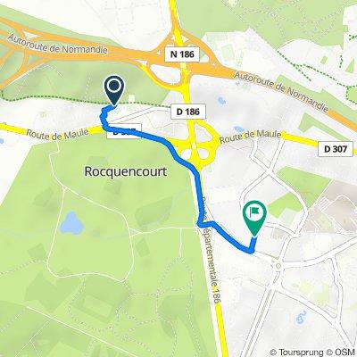 De 31 Rue de la Sabretache, Rocquencourt à 21 Rue Moxouris, Le Chesnay