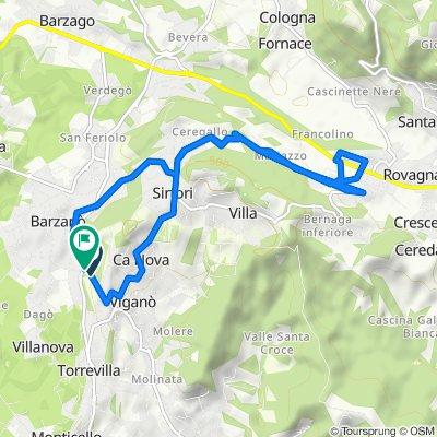 Da Via Giuseppe Mazzini 2, Barzanò a Via Giuseppe Mazzini 1/A, Barzanò