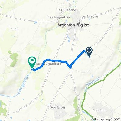 Moderate route in Bouillé-Saint-Paul