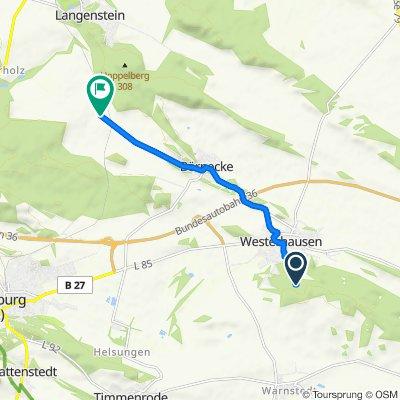 Restful route in Quedlinburg