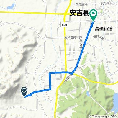 Qingyuan Rd Qingyuan Rd, Huzhou to Shengli East Rd Shengli East Rd, Huzhou