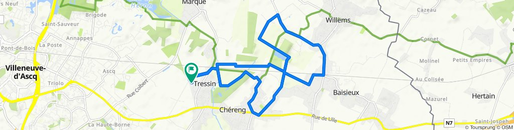Itinéraire modéré en Tressin
