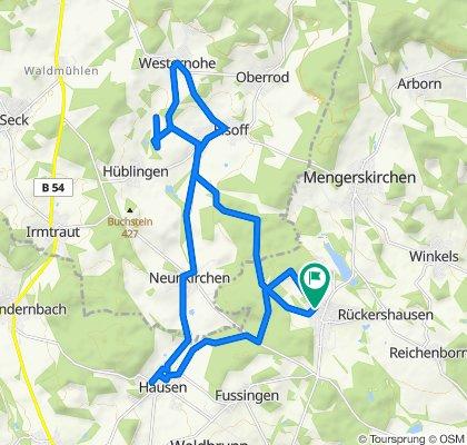 Restful route in Mengerskirchen